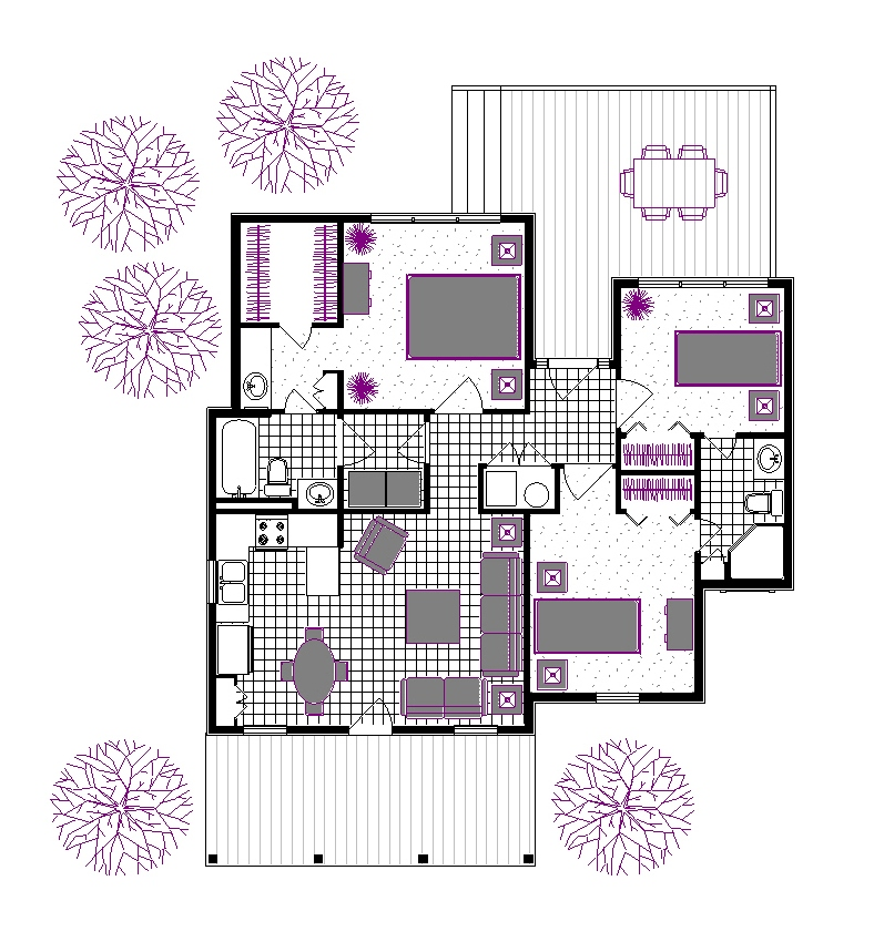 Suggested Furniture Layout image of Rutherford house - 908 House Plan